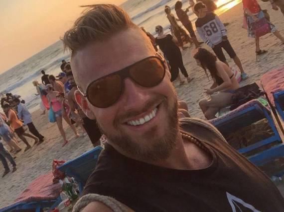 Michael Kocikowski vor rund zwei Wochen am Strand von Goa