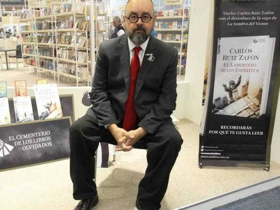 Carlos Ruiz Zafón bei einem Auftritt in Mexiko