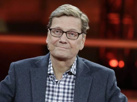 Guido Westerwelle im November 2015 in einer Talkshow bei Günther Jauch