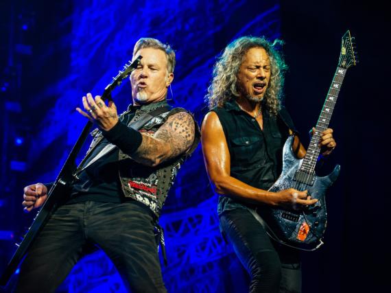 James Hetfield und Kirk Hammett zeigen bald auch hierzulande ihre Fingerfertigkeit an der Gitarre