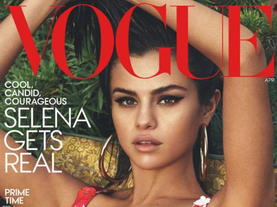 Selena Gomez auf dem April-Cover der US-Ausgabe der