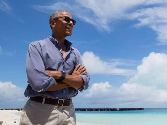 Barack Obama lässt es sich vier Wochen lang in der Südsee gut gehen