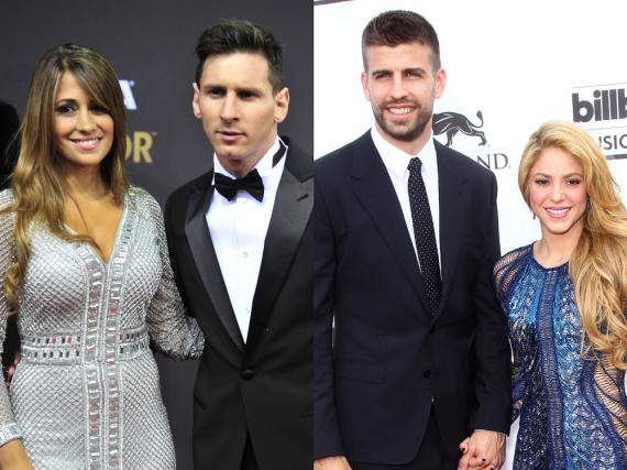 Gerard Piqué und Shakira werden wohl nicht zur Hochzeit von Leo Messi und Antonella (l.) kommen