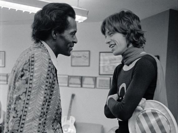 Musik-Stars unter sich: Chuck Berry (l.) und Mick Jagger