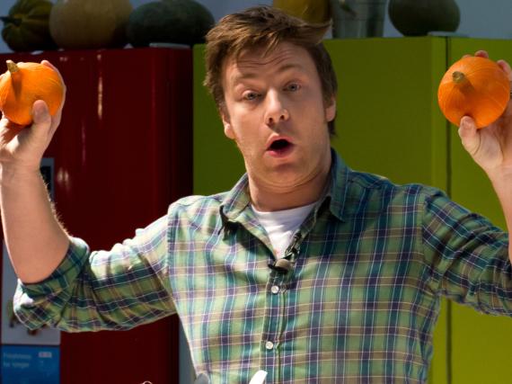 Jamie Oliver bei einem Auftritt in London