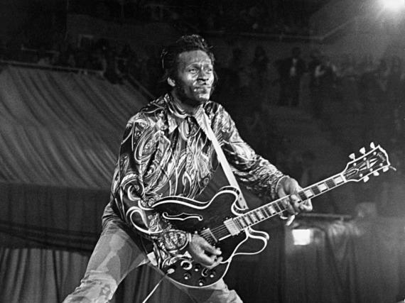 Chuck Berry bei einem Auftritt im Jahr 1969