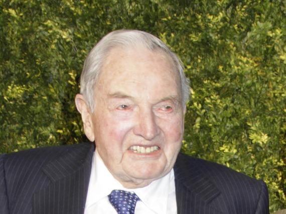 David Rockefeller bei einer Auktion im Jahr 2011