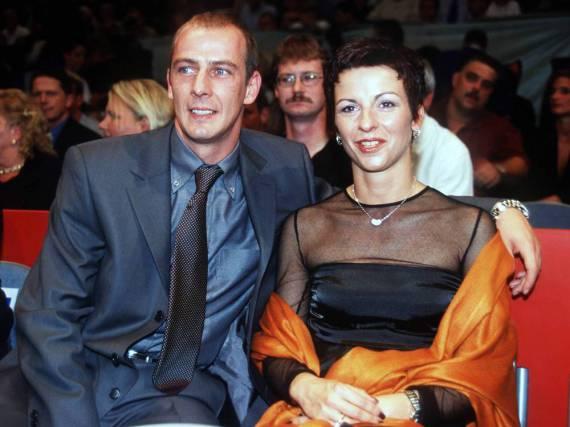 Mario Basler mit seiner damaligen Frau Iris im Jahr 1999