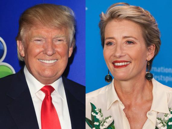 Donald Trump und Emma Thompson - Dreamteam oder Albtraum-Paarung?