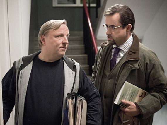 Axel Prahl und Jan Josef Liefers in ihren Paraderollen als Münsteraner Ermittler