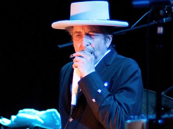 Bob Dylan bei einem seiner Konzerte