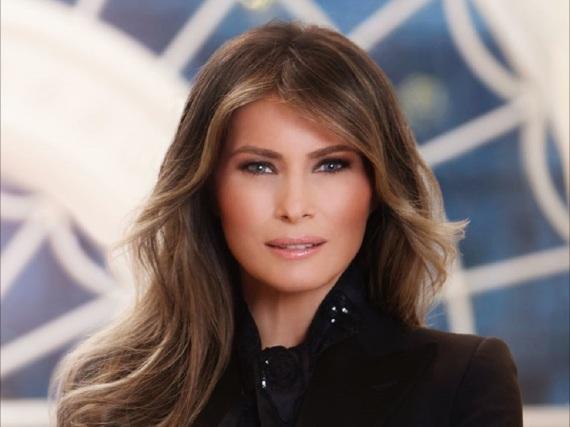 Photoshop oder nicht Photoshop - das ist bei Melania Trumps offiziellem Porträt die Frage