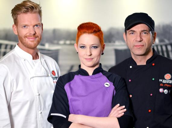 Die Kochprofis sind wieder gefragt: Können Ole Plogstedt (r.) und Co. die