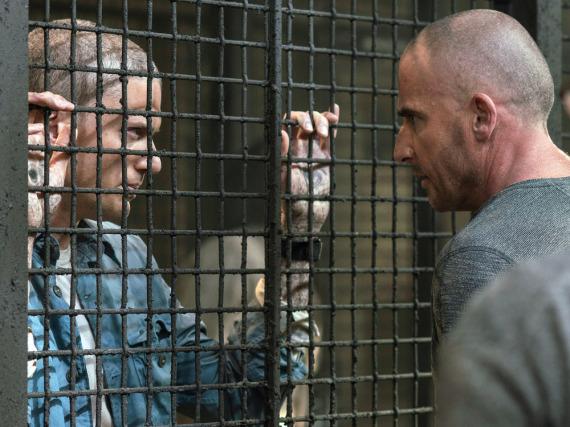 Dominic Purcell (r.) alias Lincoln Burrows und Wentworth Miller alias Michael Scofield in den neuen Folgen von