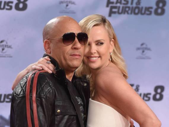 Vin Diesel und Charlize Theron auf dem roten Teppich in Berlin