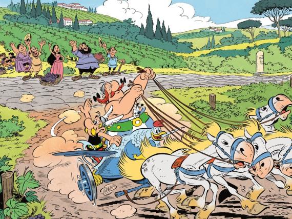 Asterix und Obelix begeben sich für ihr neues Abenteuer nach Italien