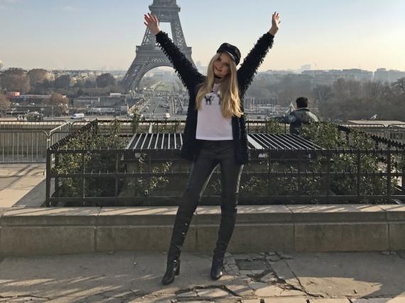 Anna Hiltrop in der Mode-Hauptstadt Paris