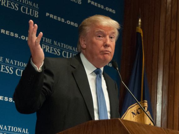 Donald Trump, zumindest in Tokio das derzeitige Gesicht von Twitter