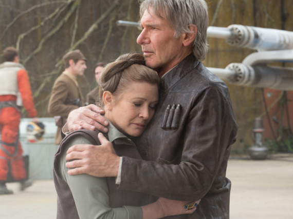 Unvergessen: Leia (Carrie Fisher) und Han Solo (Harrison Ford) in