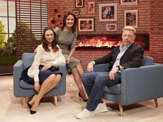 In ihrer ersten Sendung begrüßt Désirée Nosbusch Lilly und Boris Becker