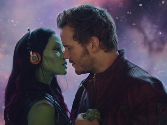 Funkt es zwischen Peter Quill (Chris Pratt) und Gamora (Zoe Saldana)?
