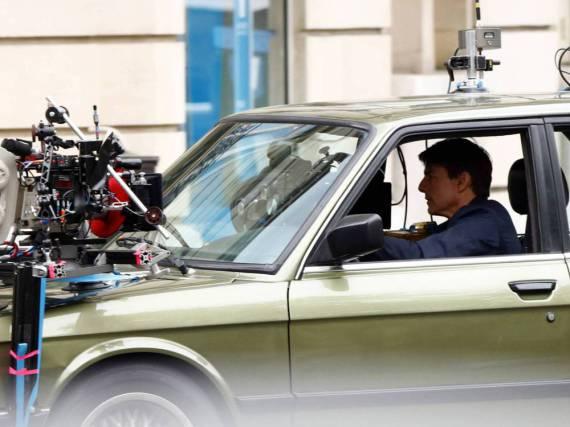 Tom Cruise bei den Dreharbeiten zu