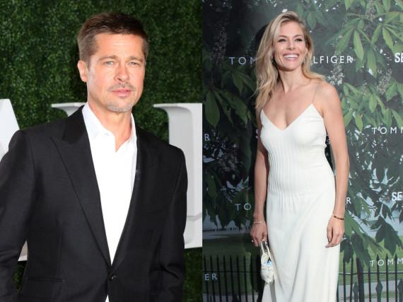 Sollen angeblich heftig geflirtet haben: Brad Pitt und Sienna Miller
