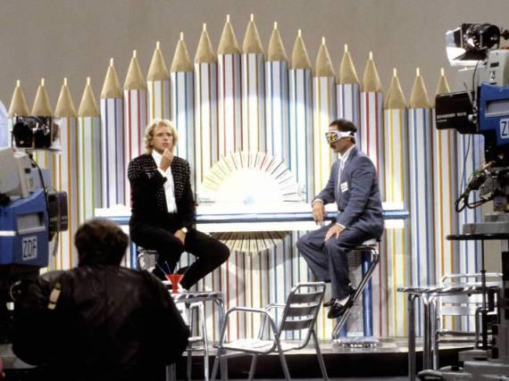 Thomas Gottschalk (li.) und Bernd Fritz 1988 bei